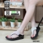 รองเท้าสุขภาพสไตล์ฟิตฟรอปผ้านิ่มมาก F1084-BLK-SIL [สีดำ/เงิน] thumbnail 1