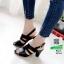 รองเท้าส้นสูงรัดส้น 10164-ดำ [สีดำ] thumbnail 2