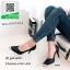 รองเท้าคัทชูส้นสูงสีดำ หัวแหลม ทรงเปิดข้อง (สีดำ ) thumbnail 3