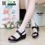 รองเท้าแตะพียู ส้นโฟม รัดส้น PU6101-BLK [สีดำ] thumbnail 1