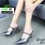 รองเท้าเปิดส้น Zara style หัวแหลม C3-12-D-GREY [สีเทาเข้ม] thumbnail 2