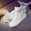 รองเท้าผ้าใบหุ้มข้อนำเข้า สไตล์เกาหลี YZB-059-WHI [สีขาว] thumbnail 4
