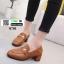 รองเท้าคัทชูนำเข้า สไตล์กุชชี่ K0701-BROWN [สีน้ำตาล]