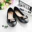 รองเท้าคัชชูส้นเตี้ย แต่งอะไหล่สีเงินด้านหน้า 3945-BLACK [สีดำ] thumbnail 2