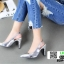 รองเท้าส้นสูงหัว แหลมรัดส้น B29-005-SIL [สีเงิน] thumbnail 2