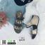 รองเท้าเพื่อสุขภาพ สายคาดมีดอกไม้ L1442-SIL [สีเงิน] thumbnail 2
