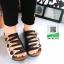 รองเท้าสไตล์เพือสุขภาพ คาดสีสลับ 5815-BLACK [สีดำ] thumbnail 2