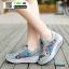 รองเท้าผ้าใบ แบบเสริมพื้นลายดอก W803-BLU [สีน้ำเงิน] thumbnail 1