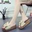 รองเท้าส้นเตารีด พื้นเสมอ G-1268-APR [สีแอปริคอท] thumbnail 2