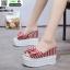 รองเท้าแบบสวมส้นเตารีด งานนำเข้า100% ST21-RED [สีแดง] thumbnail 1