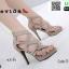รองเท้าส้นสูงหุ้มข้อ วัสดุผ้านุ่ม 17-2317-CRM [สีครีม] thumbnail 2