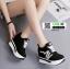 รองเท้าผ้าใบแพลตฟอร์มนำเข้า HWA-536-BLK [สีดำ] thumbnail 4