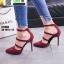รองเท้าคัชชูรัดข้อส้นเข็ม ST1860-MAR [สีเลือดหมู] thumbnail 4