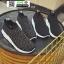 รองเท้าผ้าใบทรงสวม ทรงยอดฮิต F02-BLK [สีดำ] thumbnail 3