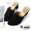 รองเท้าส้นสูงเปิดหน้า 150-39-BLACK [สีดำ ] thumbnail 3