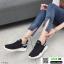 รองเท้าผ้าใบแฟชั่นงานผ้าระบายอากาศ 1718-BLK [สีดำ] thumbnail 2