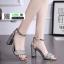 รองเท้าส้นสูงนำเข้าสไตล์เกาหลี 0653-เงิน [สีเงิน] thumbnail 1