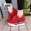 รองเท้าผ้าใบสไตล์เกาหลี ซิปข้าง เสริมส้นด้านในให้ รวม 4นิ้ว A-08-แดง [สีแดง] thumbnail 2
