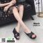 รองเท้าส้นเตารีด หน้าไขว้ กากเพชร 3082B-45-BLK [สีดำ] thumbnail 3