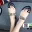 รองเท้าแตะหูคีบ สายคาดทองลายก้างปลา 6-2-BLK [สีดำ] thumbnail 5