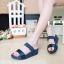รองเท้าส้นเตารีด style fitflop F1109-BLU [สีน้ำเงิน] thumbnail 2