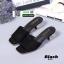 รองเท้าลำลองส้นเหลี่ยม 523-BLK [สีดำ] thumbnail 1