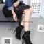รองเท้าบูทส้นสูงสีดำ แต่งหมุด สไตล์ Korea (สีดำ ) thumbnail 5