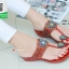 รองเท้าแตะแฟชั่นสีแดง Flowery Sandals (สีแดง ) thumbnail 5