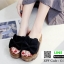 รองเท้าส้นเตารีด พื้นเสมอ G-1268-BLK [สีดำ] thumbnail 3
