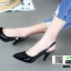รองเท้าส้นสูงหัว แหลมรัดส้น B29-005-BLK [สีดำ] thumbnail 3
