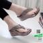 รองเท้าเตารีด เสริมส้นหูคีบ หน้าเพรชวิ้งๆ 6047-เทา [สีเทา] thumbnail 1