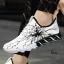 รองเท้าผ้าใบ หนัง PU ลายสุดแนว-White 919 [สีขาว] thumbnail 2