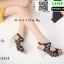 รองเท้าส้นแก้วใส สไตล์เกาหลี 17-2313-BLK [สีดำ] thumbnail 3
