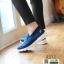 รองเท้าผ้าใบลำลอง เพื่อสุขภาพ A371-BLU [สีน้ำเงิน] thumbnail 4