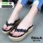 รองเท้าลำลองเตารีด เสริมส้น คีบ B22-190-BLK [สีดำ] thumbnail 2