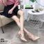 รองเท้าคัชชูส้นเข็มเปิดส้น งานสไตล์valentino K9014-CRM [สีครีม] thumbnail 2