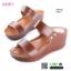 รองเท้าสไตล์ลำลองแบบสวมคาดหน้าสองตอน GS6149-BWN [สีน้ำตาล] thumbnail 1