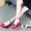 รองเท้าลำลองส้นเตารีด สไตล์แบรนด์ HERMES HW-22-RED [สีแดง] thumbnail 3