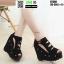 รองเท้าหุ้มส้นทรงเตารีด ST588-BLK [สีดำ]