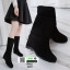 รองเท้าบู้ท แบบสั้น งานสวยใส่ดี พื้นเตารีดสามแบบสาวเกาหลี 6601-ดำ [สีดำ] thumbnail 1