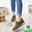 รองเท้าผ้าใบไร้เชือกสีน้ำตาล แนวสตรีท (สีน้ำตาล ) thumbnail 6