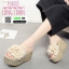 รองเท้าส้นสูง แบบสวม ส้นโฟม PU6008-CRM [สีครีม] thumbnail 2