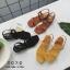 รองเท้าแตะรัดหลัง หนังสักราจ 1366-APR [สีแอปริคอท] thumbnail 3
