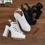 รองเท้ารัดส้นเปิดท้ายส้นแท่ง ST005-BLK [สีดำ] thumbnail 4