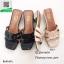 รองเท้าแตะแฟชั่นสีดำ Style Ysl หนังเงานิ่ม (สีดำ ) thumbnail 5