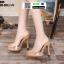 รองเท้าส้นสูงแบบสวม 099-WHI [สีขาว] thumbnail 3