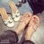 รองเท้าแตะเปิดส้น สไตล์ H ฉลุลาย G-1415-WHI (สีขาว) thumbnail 5