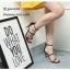 รองเท้าส้นสูงคาด 2 สาย A461-ดำ [สีดำ] thumbnail 1