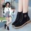 รองเท้าบูทมาร์ตินนำเข้า สไตล์เกาหลี CNC-539-BLK [สีดำ] thumbnail 1