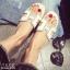 รองเท้าแตะเปิดส้น สไตล์ H ฉลุลาย G-1415-WHI (สีขาว) thumbnail 2